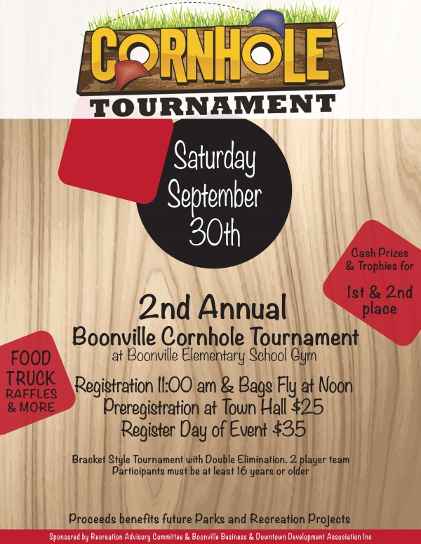 2nd Annual Boonville Cornhole Tournament